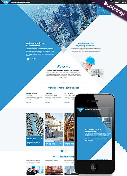 Architecture Website Template Bootstrap Responsive Design