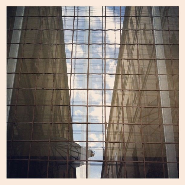 Architecture and sky in the mirror - Photo from the Instacanvas gallery for david_barriere.