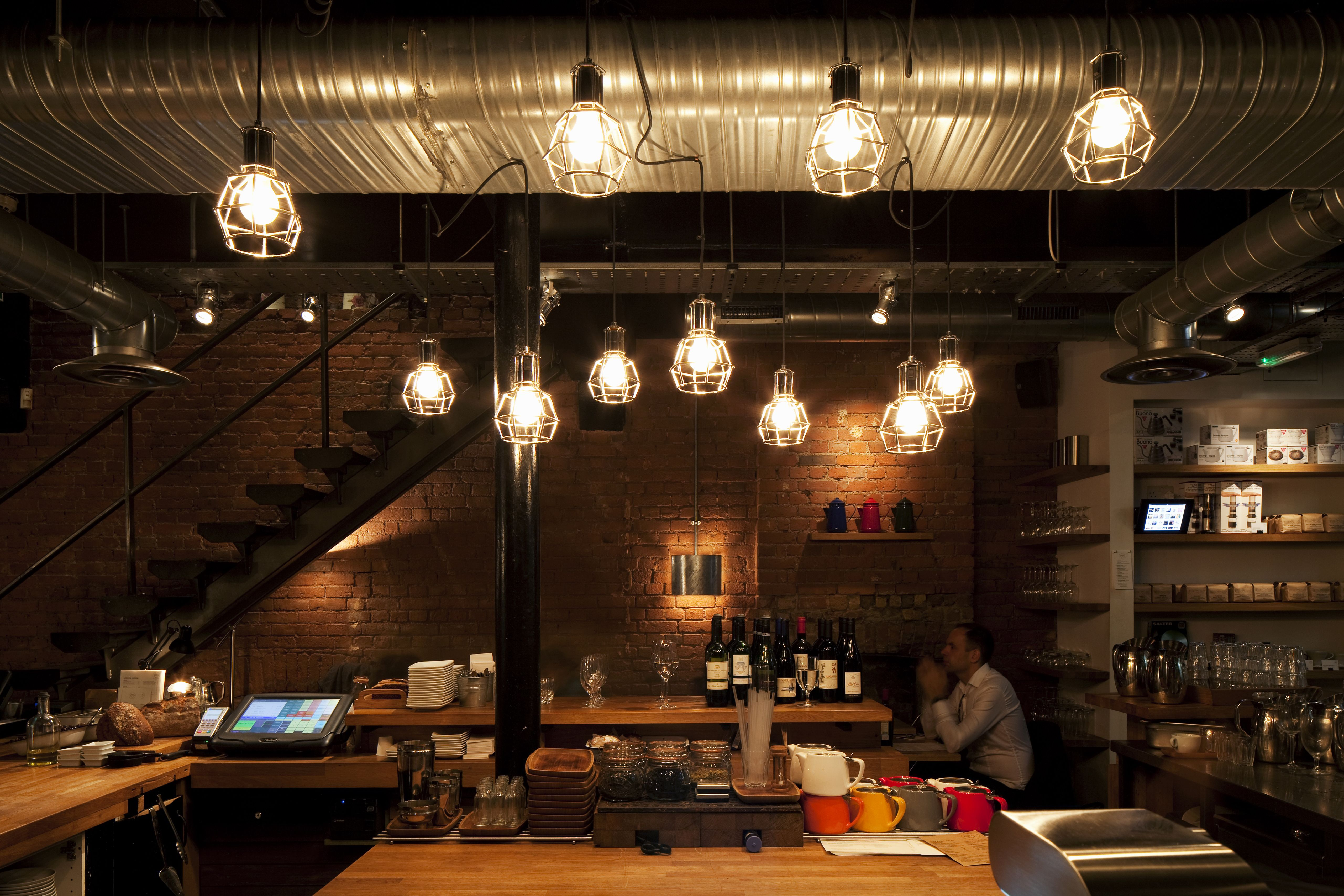 Beautiful restaurant lighting with a relaxing ambience lighting led indoorlights decor pendantlights spotlights ambience illumination cafe