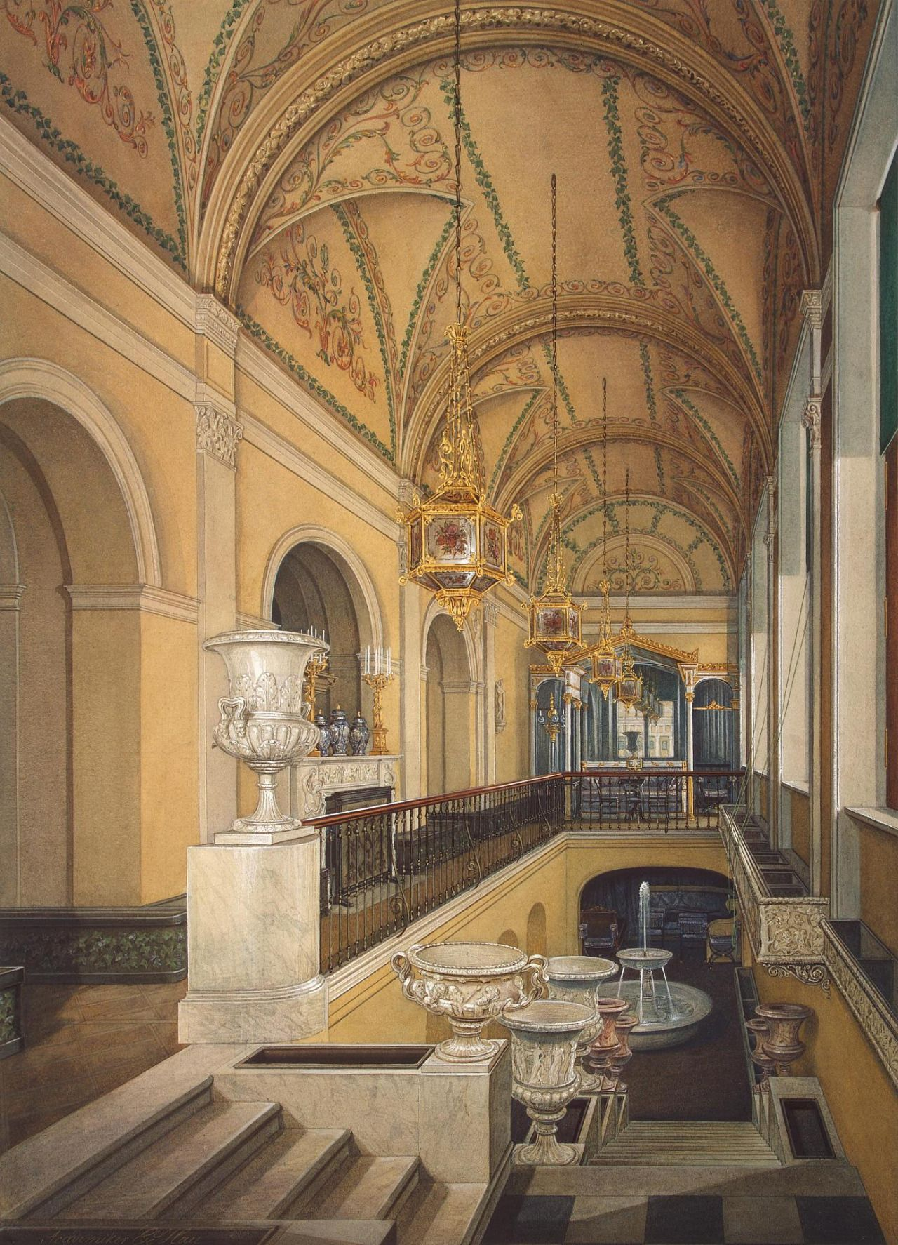 Interiors of the Winter Palace.The Winter Garden of Empress ...