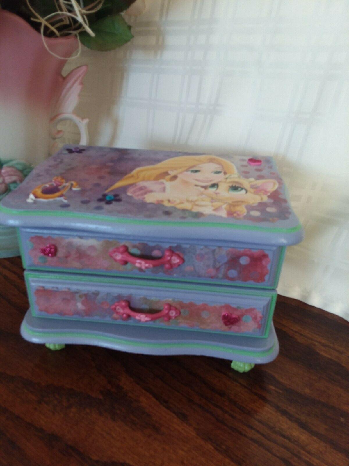 Refurbished Tangled Wood Jewelry Box Wood jewelry box