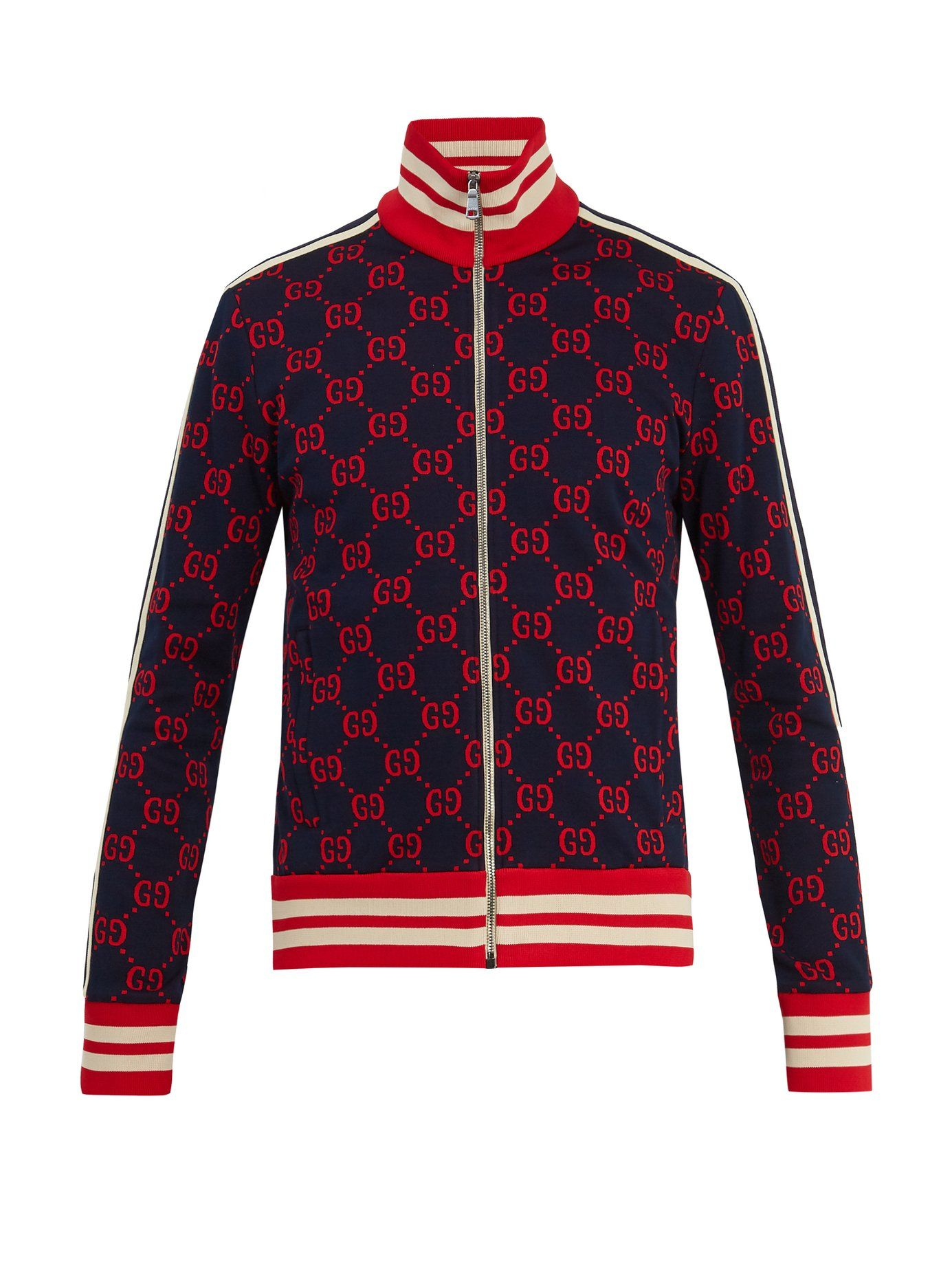 c1f1866fe Click here to buy Gucci GG-jacquard zip-through cotton sweatshirt at  MATCHESFASHION.COM