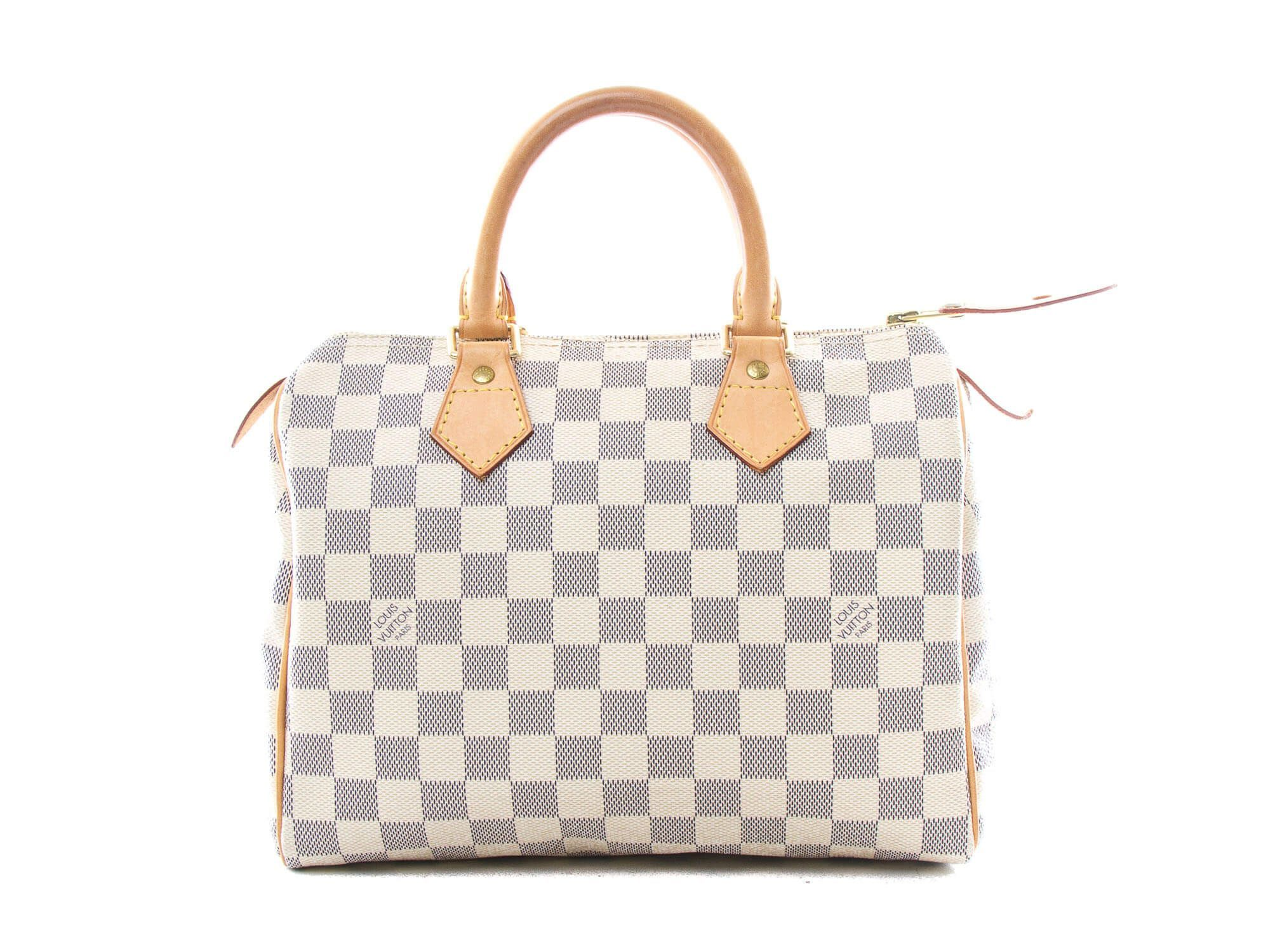 3958bb958ad6 Authentic Louis Vuitton Damier Azur Speedy 25 handbag N41534 ...