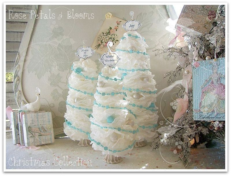 https://flic.kr/p/8XK6qW | Paper Collection White Aqua Tree Trio