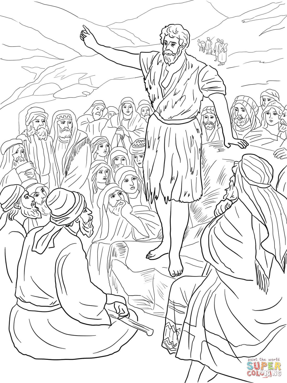 Coloring Page For Zechariah Sunday School Coloring Pages John