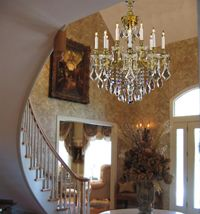 Foyer Chandeliers, Entryway chandelier lighting, Goldenage USA.  All I can say is, OMG! lol