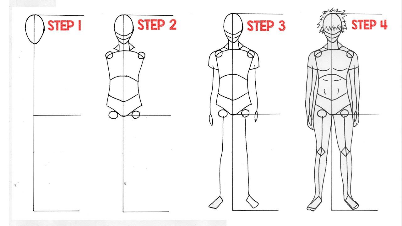 How To Draw Anime Full Body For Beginners Drawing Anime Slow Tutorial In 2020 Drawing For Beginners Anime Drawings For Beginners Anime Drawings
