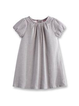 Robe plissée à chevron Beige Sesame Fille  gray dress - ADORABLE! - -okaidi- $19.95 euros