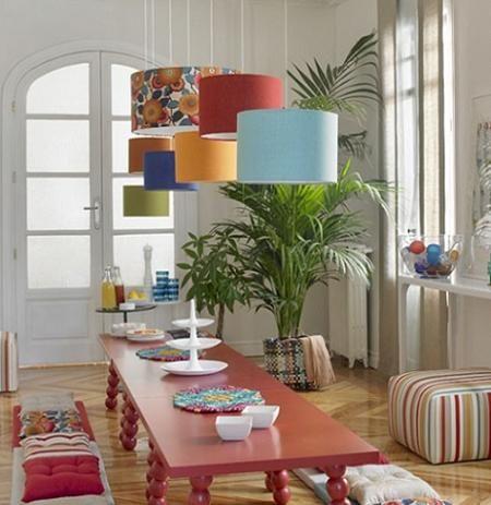 lámparas de techo de distintos colores y estampados | Lámparas ...