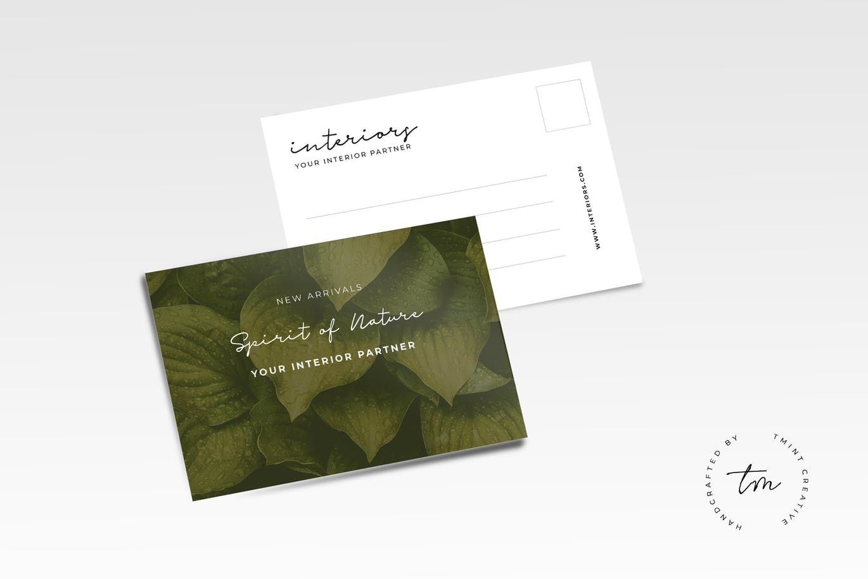 nature postcard template ai eps postcard design templates