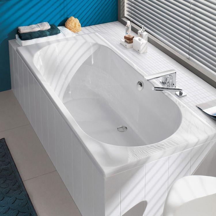 Villeroy \ Boch Onovo Duo Rechteck-Badewanne, weiß - So bequem