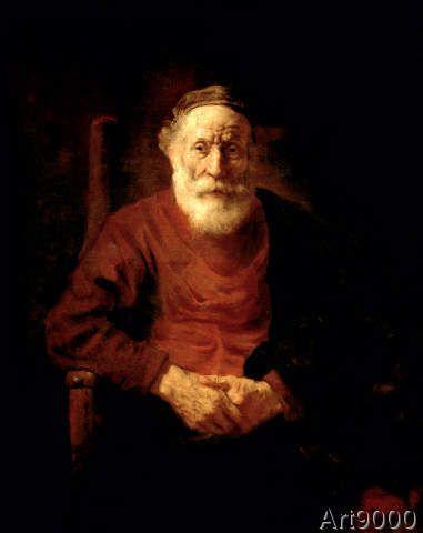 Harmensz van Rijn Rembrandt - An Old Man in Red