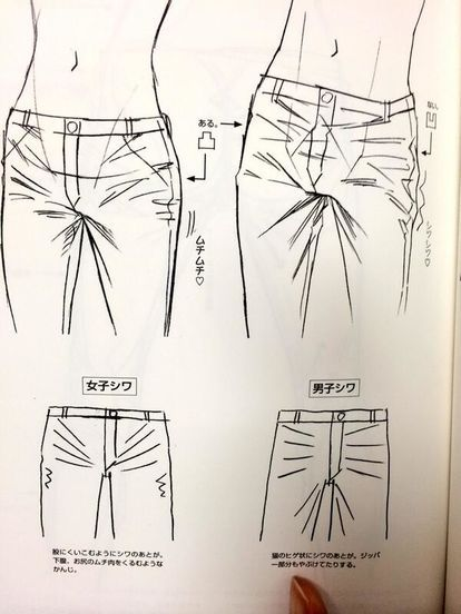 how to draw jeans on a girl