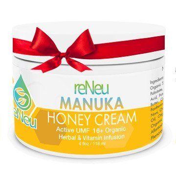 reNeu Manuka Honey Cream Soothing Moisturizer Skin Care with Active Manuka Honey and Aloe…