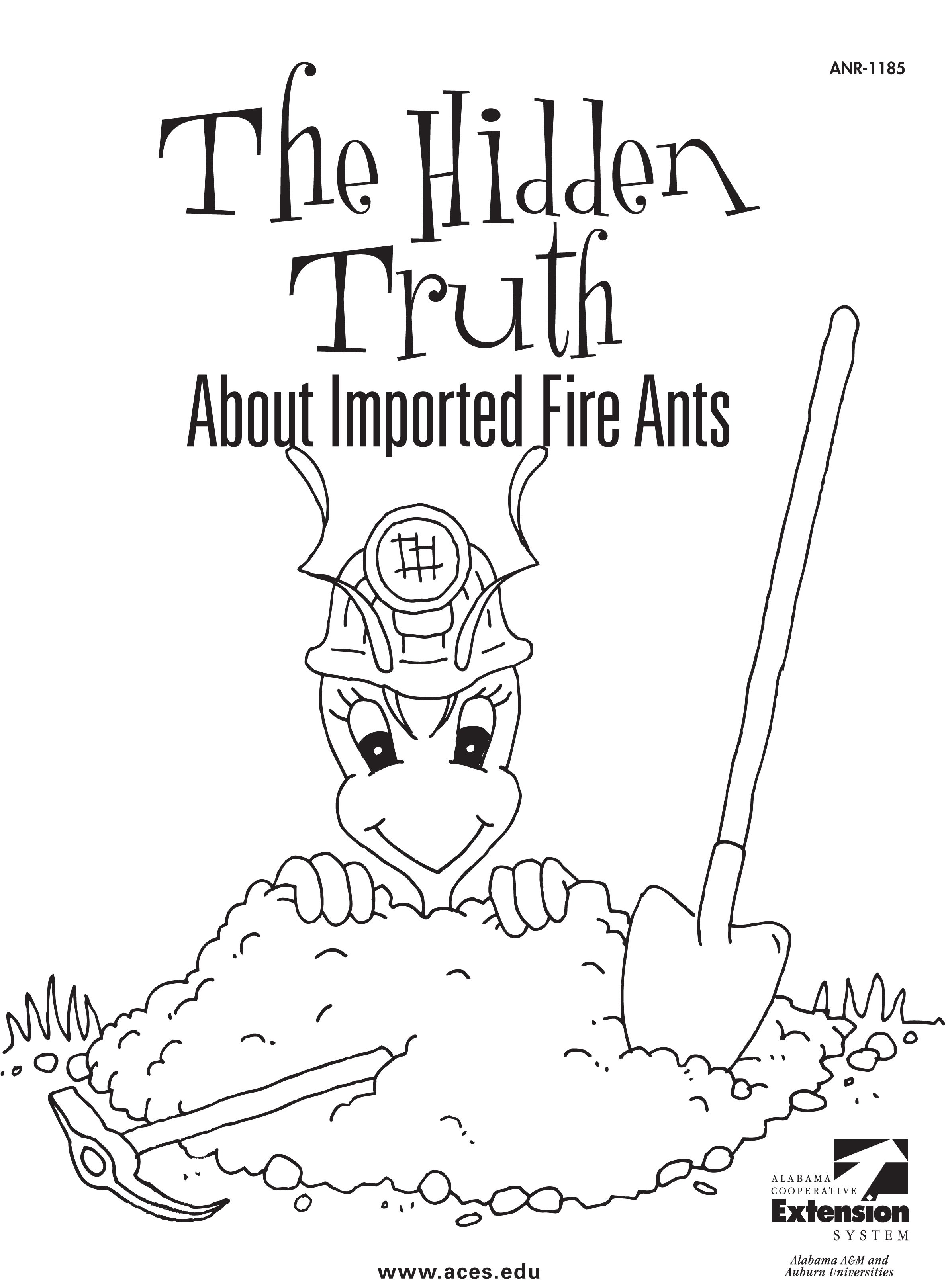 fire ant coloring page httpwwwacesedupubs