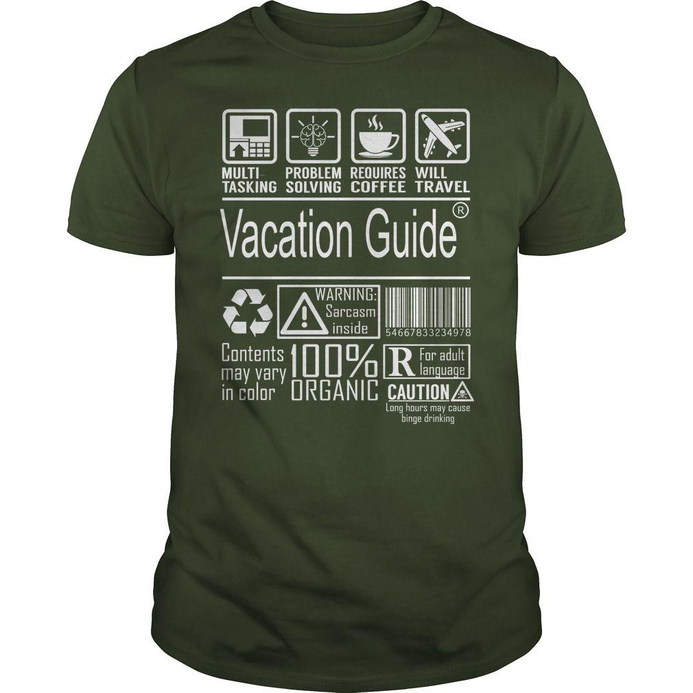 Vacation Guide Multitasking Job Shirts