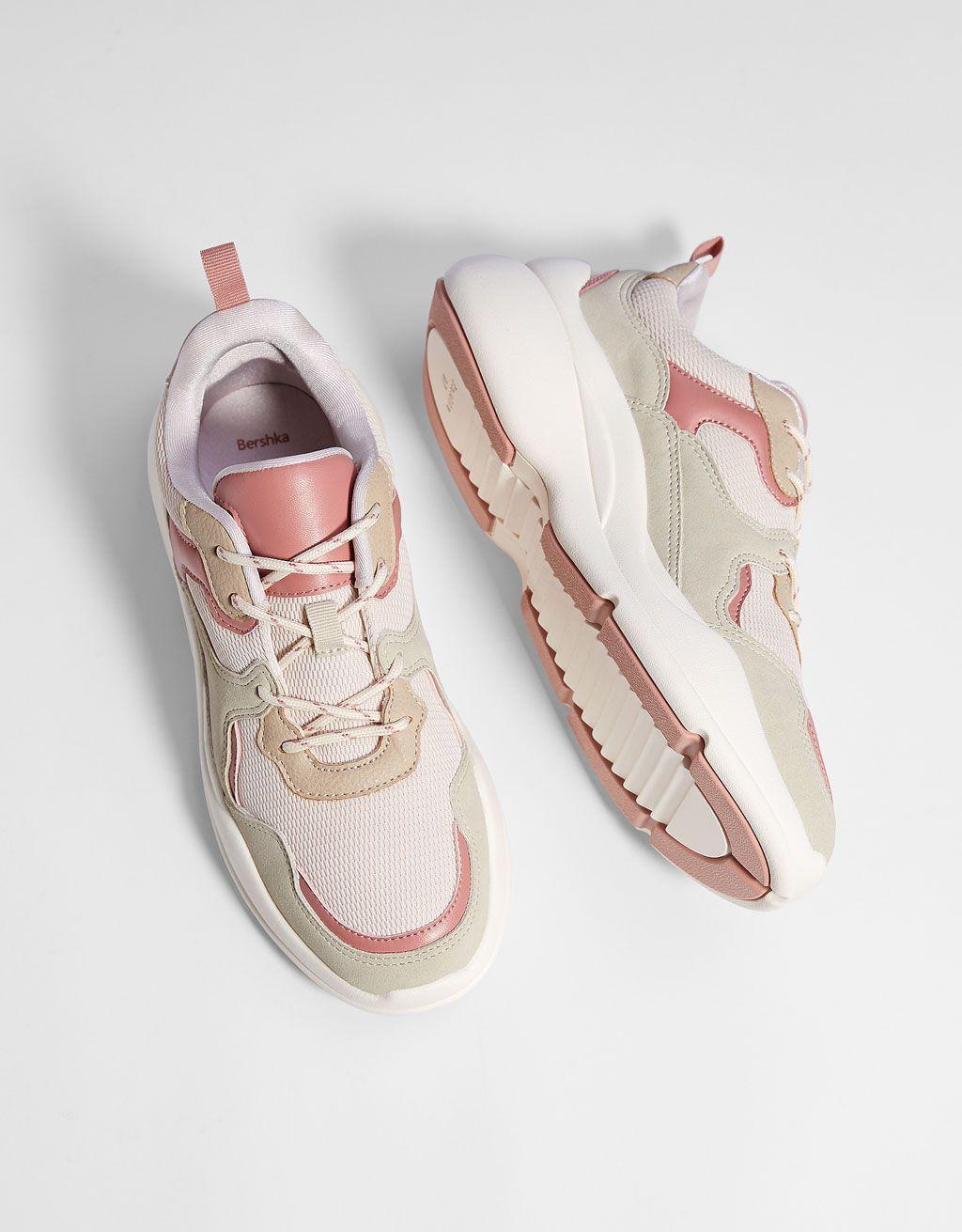 b9d4651710a Contrasting platform sneakers Bershka
