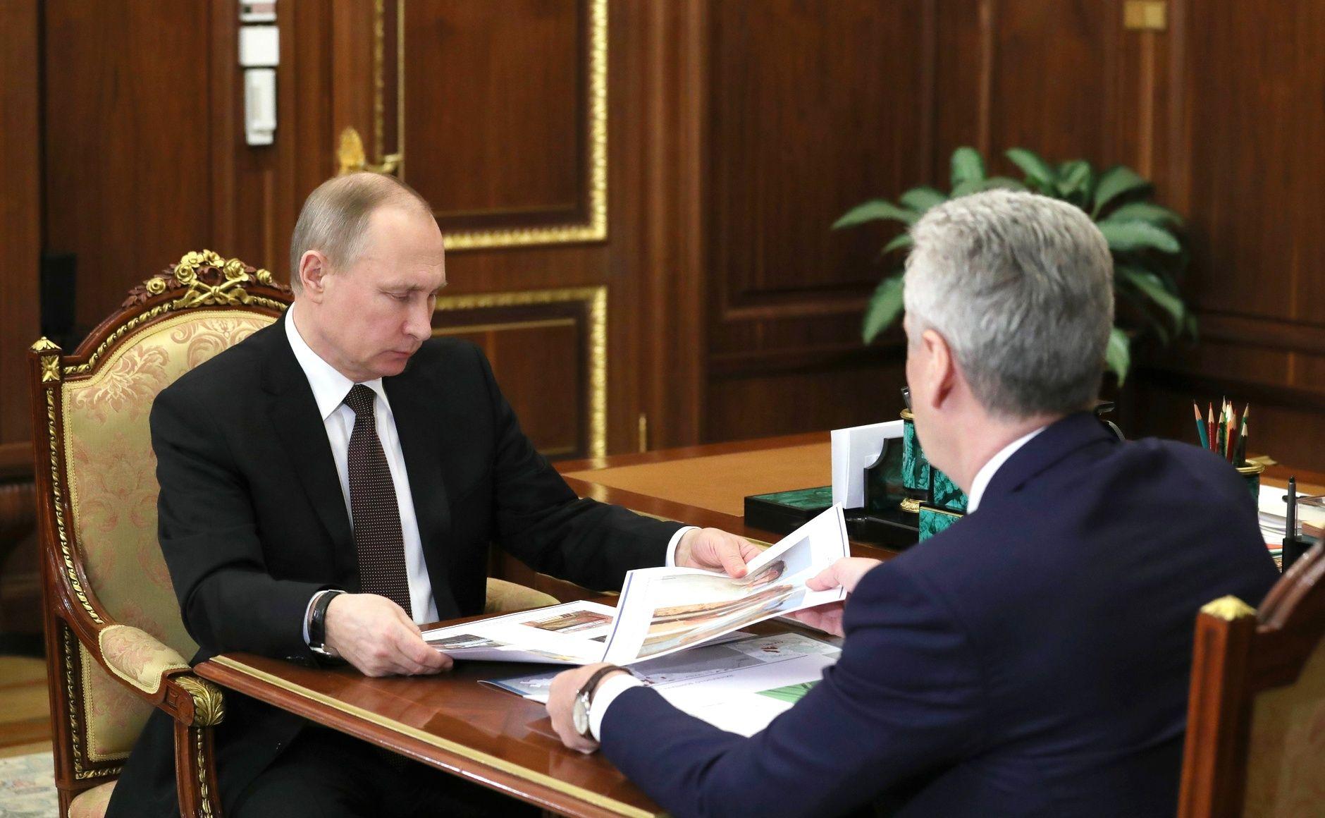 With Moscow Mayor Sergei Sobyanin.