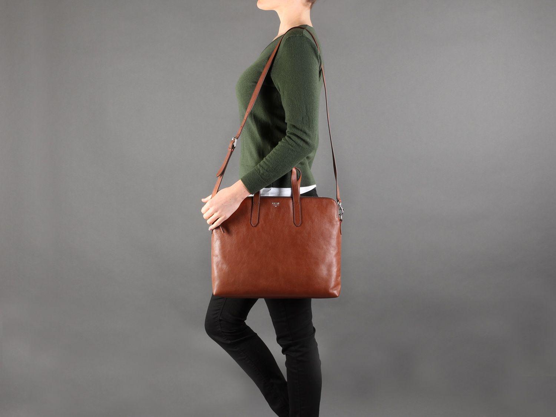 6aeaded2dd Fossil Sydney Brown Leather Work Bag  bag  handbag  luxury  envy  fashion   style  accessories  inspiration