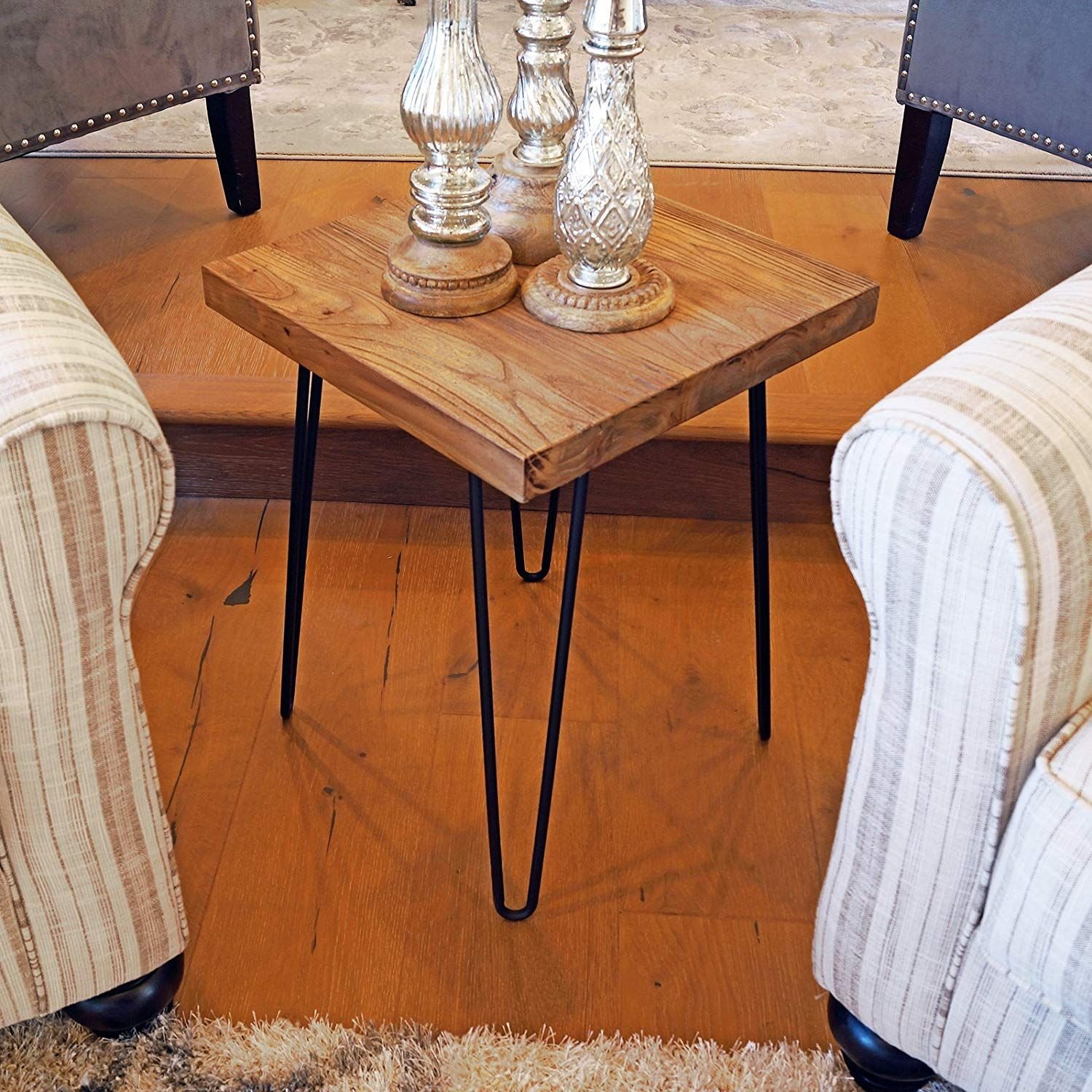 Amazon Com Welland Square Old Elm Wood End Table Rustic Surface