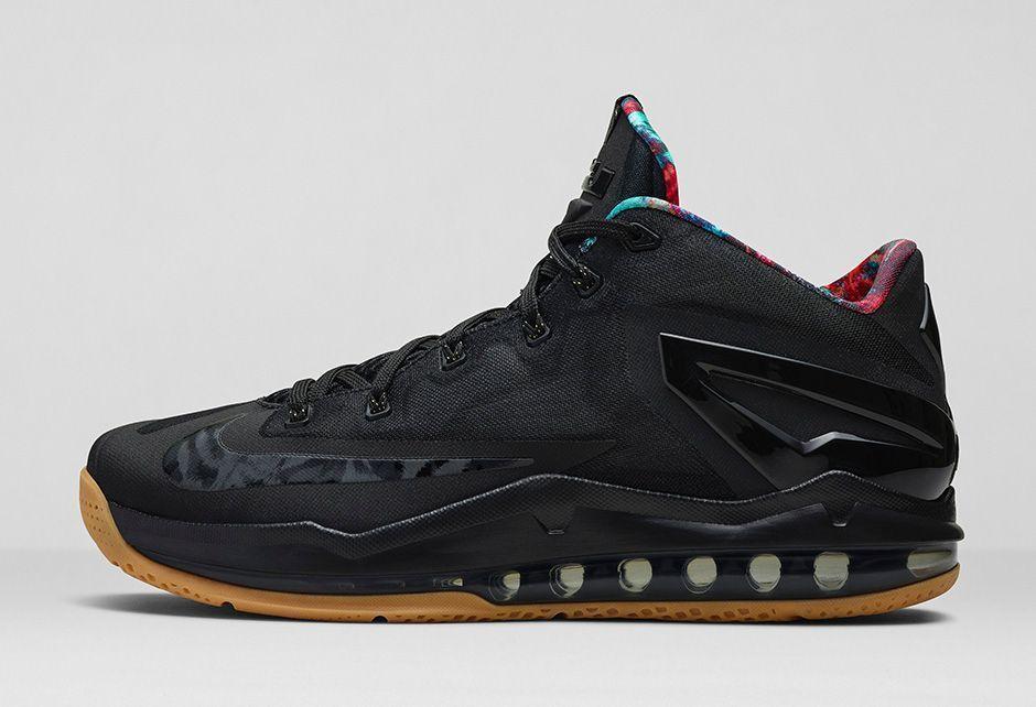 separation shoes a5d93 f938c Nike Lebron XI 11 Low Black Hypercrimson Basketball Shoes ...