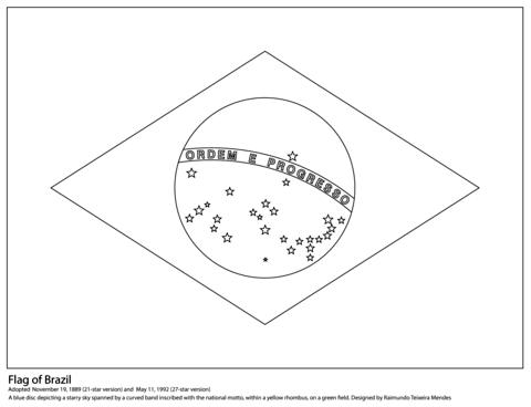 Flag Of Brazil Coloring Page Flag Coloring Pages Coloring Pages