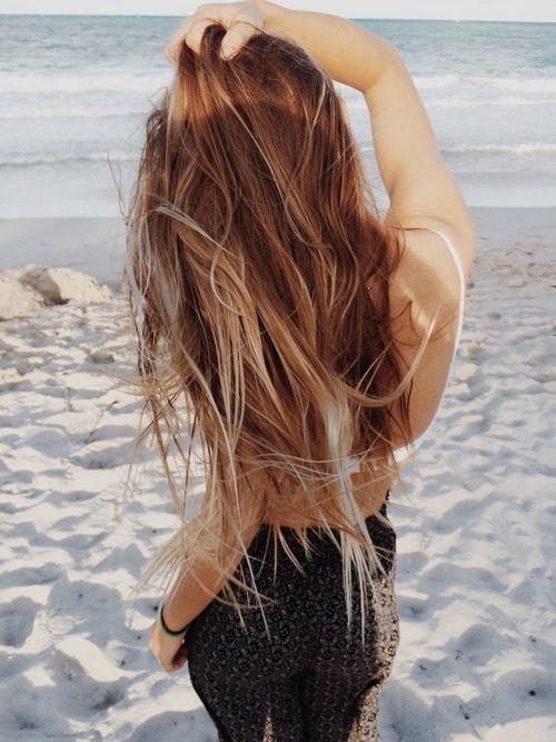 Long beachy hair