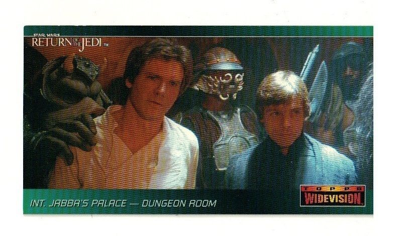 1995 topps star wars return of the jedi widevision promo