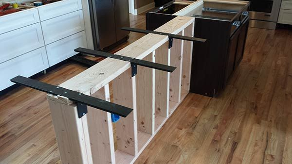 Countertop Support Brackets For Center Levered Applications Such As Bar Tops
