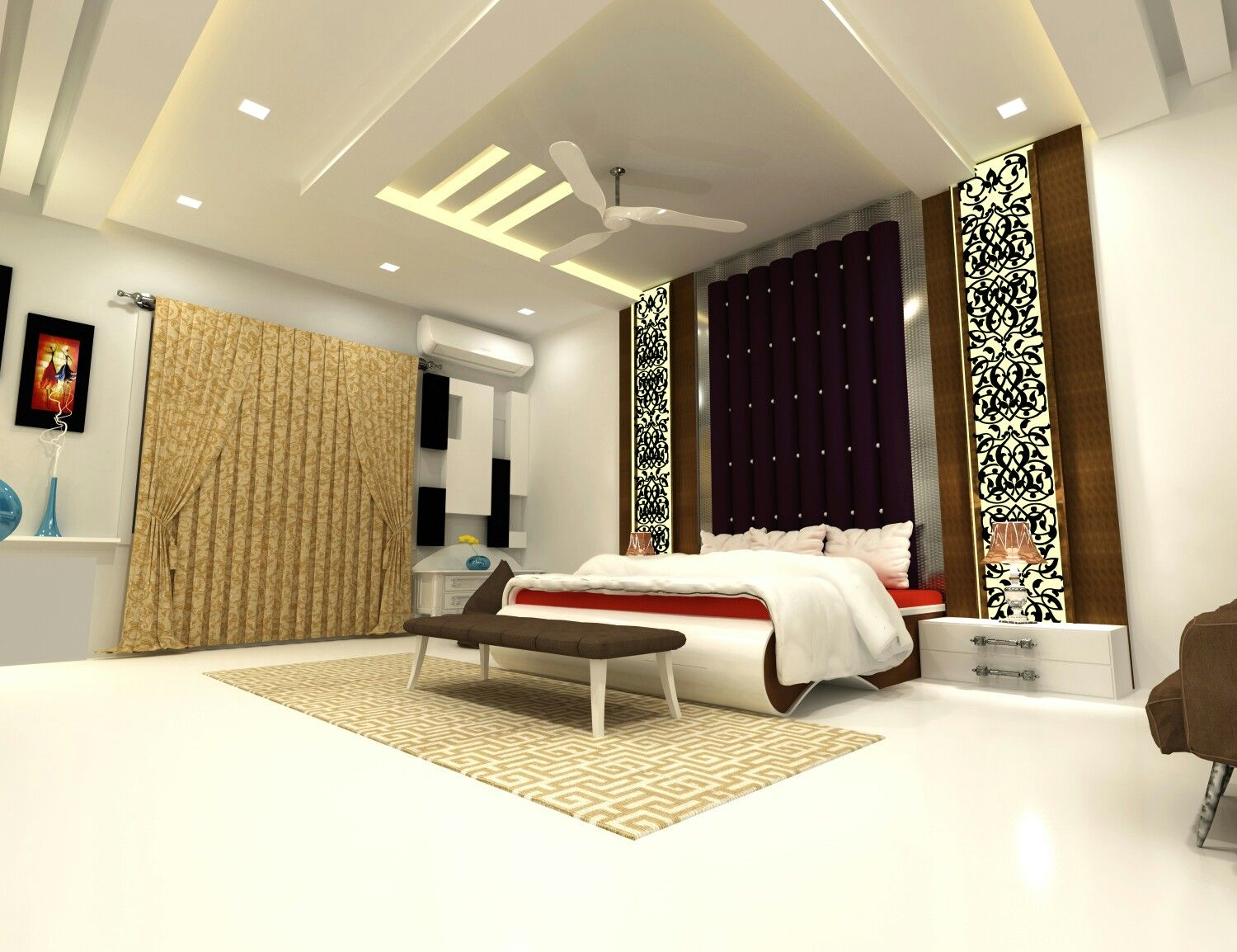 Bedroom  Modern bedroom design, Bedroom design, False ceiling design
