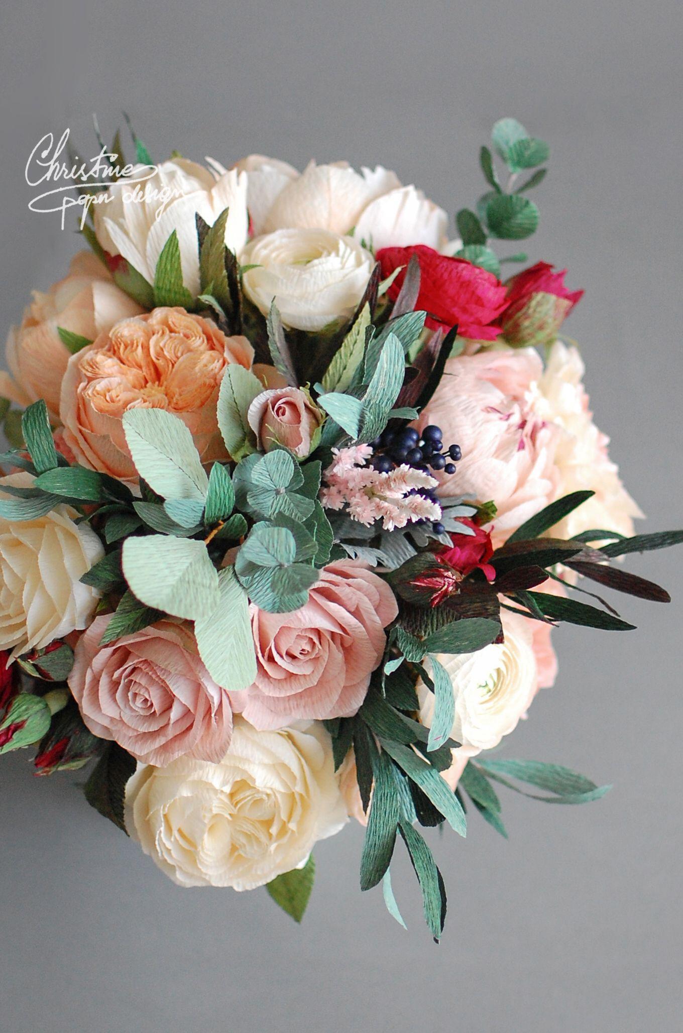 Paperflowers Bridal Bouquet Christinepaperdesign 2 Paper