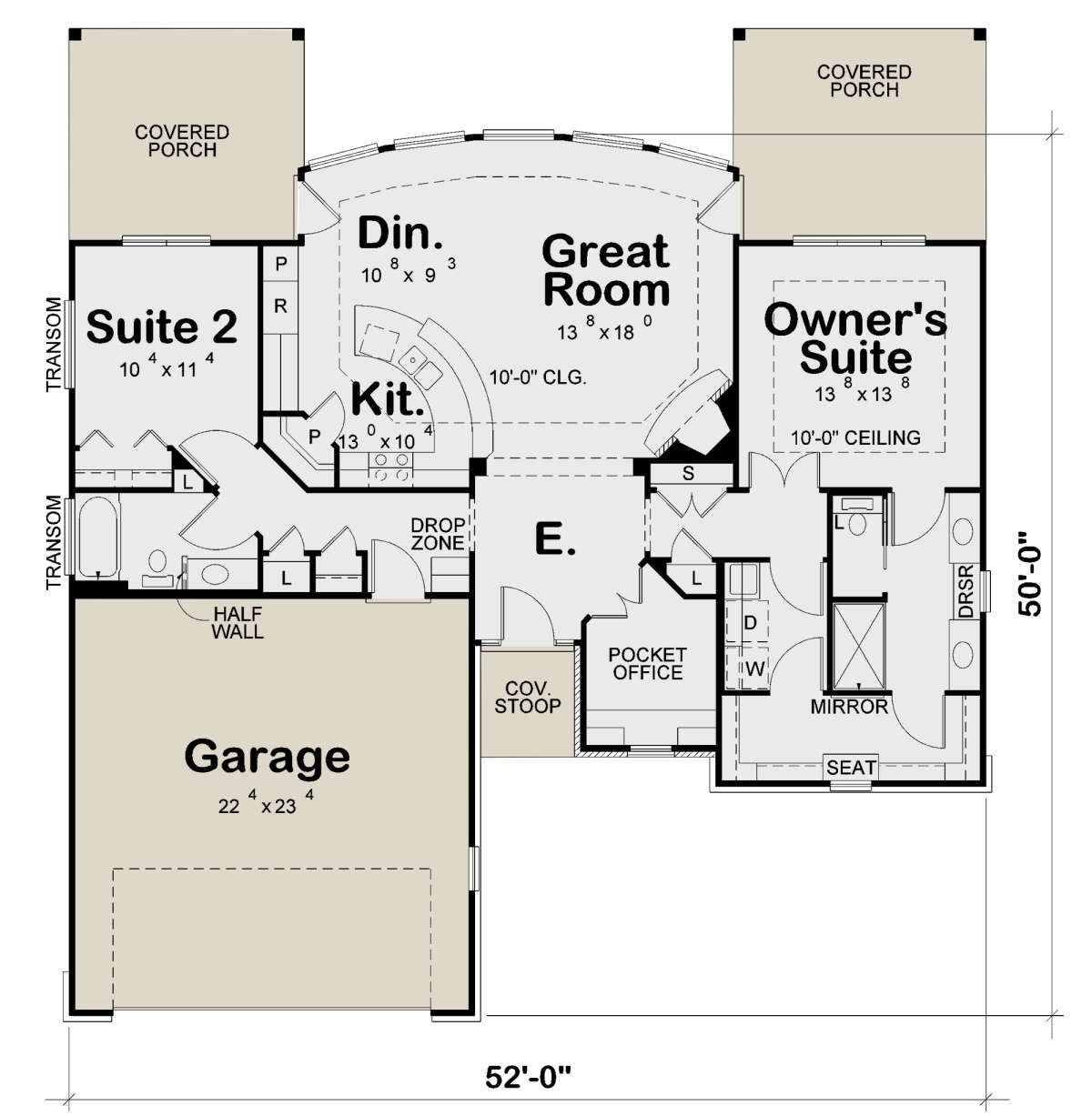 House Plan 402 01637 Ranch Plan 1 436 Square Feet 2 Bedrooms 2 Bathrooms In 2021 Best House Plans Open House Plans Bedroom House Plans