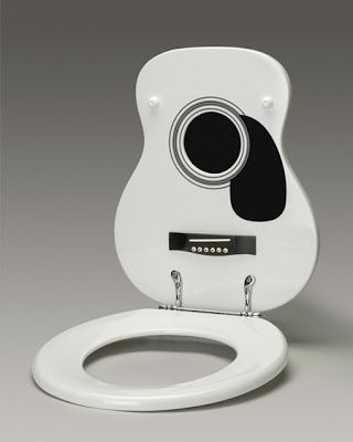 Guitar Toilet Seat Cover With Images Bathroom Gadgets Toilet