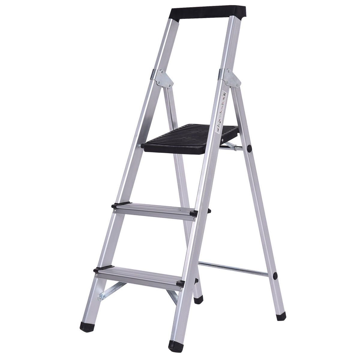 Ghp 330lbs Capacity 3step Nonslip Folding Aluminum Step Ladder With Rubber Pads See This Terrific Product This Is An Af In 2020 Step Ladders Ladder 3 Step Ladder