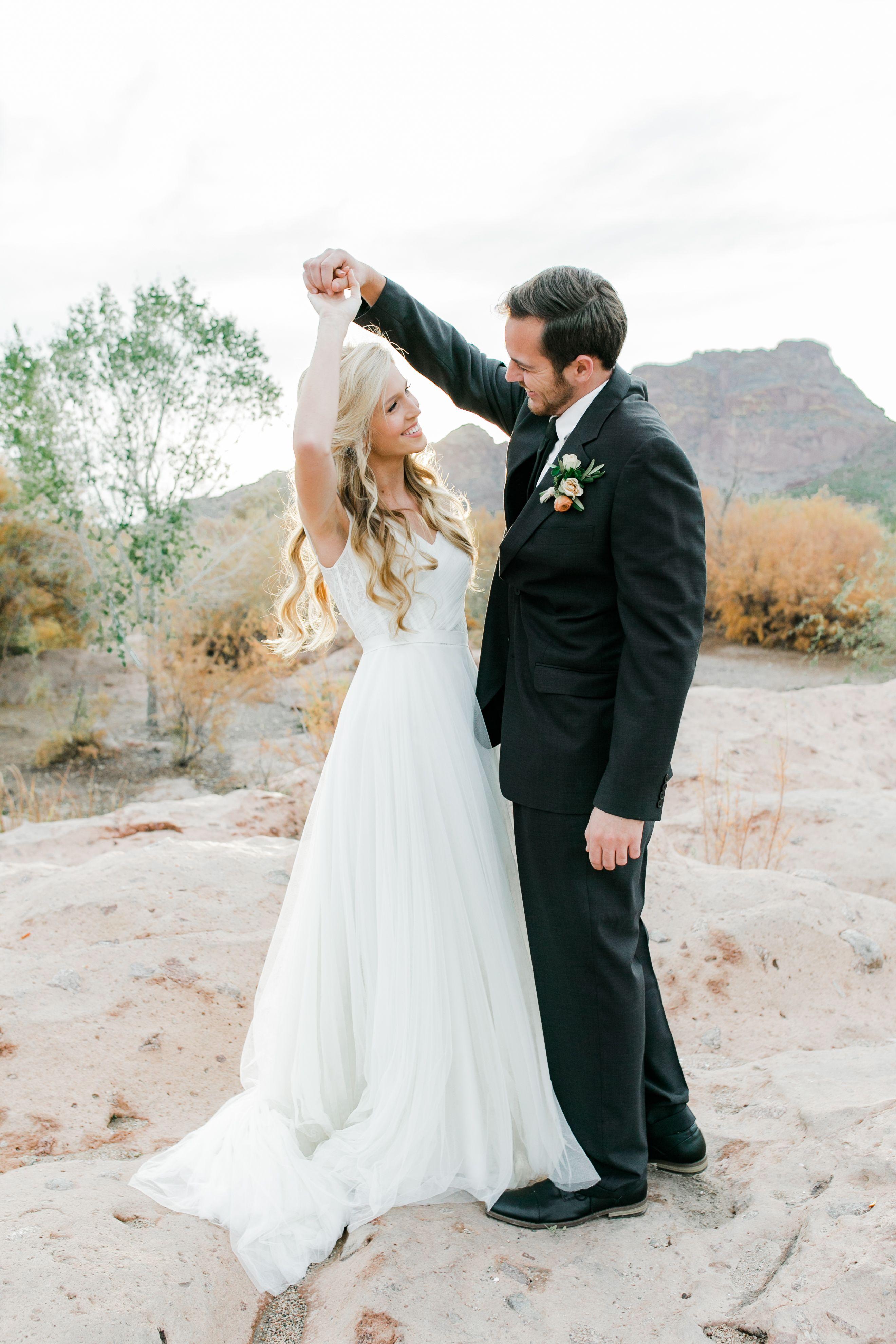 Best wedding dresses for 50 year olds  Desert Arizona Wedding  Karlie Colleen Photography  Romantic