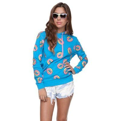 64d6aba5ce3410 Odd Future Womens All Over Donut Hoodie