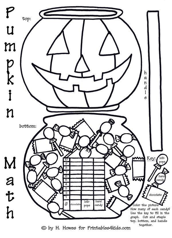 Halloween Pumpkin Trick or Treat Math Graph Activity