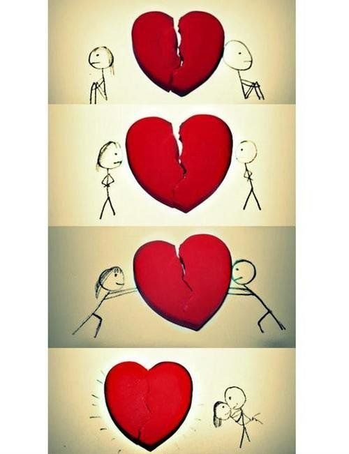 Emo broken heart broken heart cool cute drawing love stuff