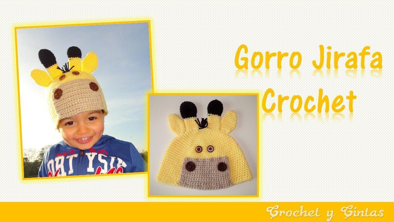 Gorro jirafa tejido a crochet ganchillo para niños – Parte 1 ...