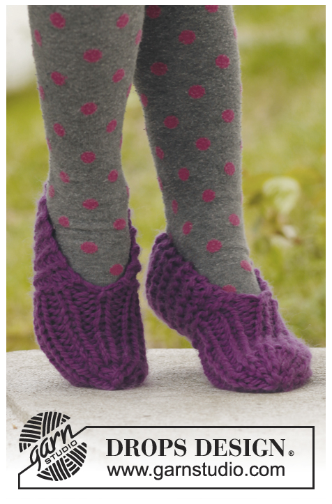 Photo of knitted slippers free pattern kids children