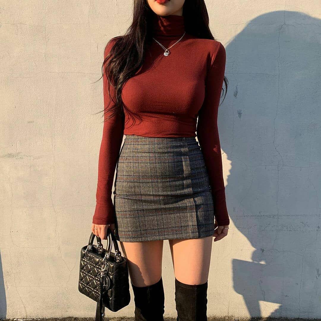 Women Trendy Clothing Inspiration Stylish Spring 2020 Cute Korean Shopping Tiktok Highschool Womens Black Dress Clothes Fashion