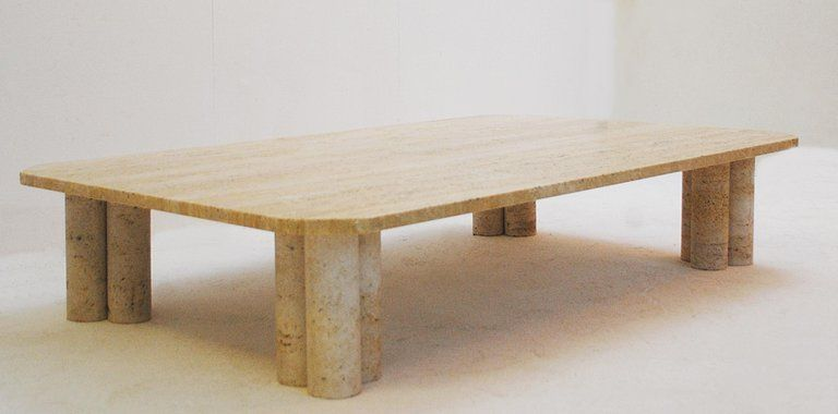 Coffee Table In Travertine In The Style Of Mario Bellini Italy Circa 1970s For Sale At 1stdibs Coffee Table Travertine Table