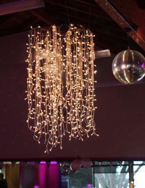 Fairy light chandelier google search wedding inspiration fairy light chandelier google search aloadofball Gallery