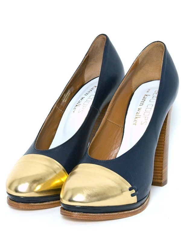 Beaucoups x Karen Walker gold-dipped toes.