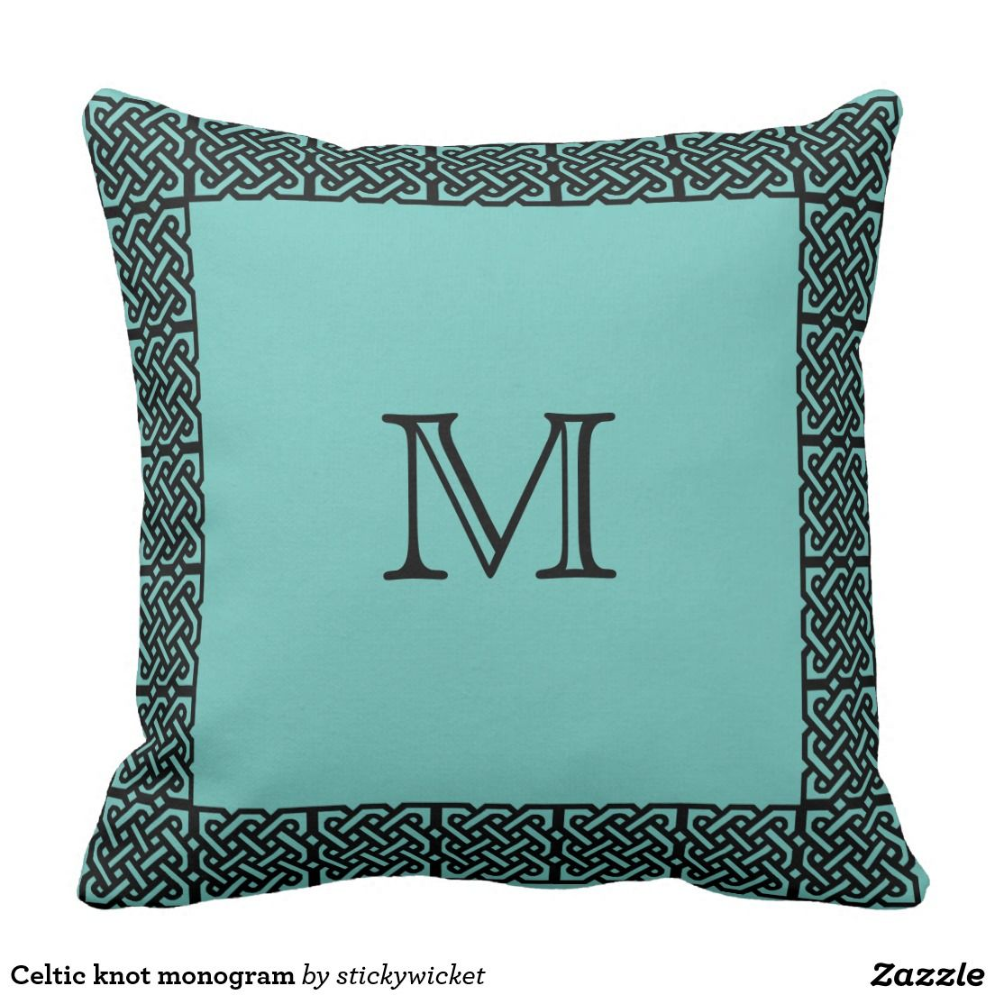 Celtic knot monogram throw pillow tossed and turned pinterest