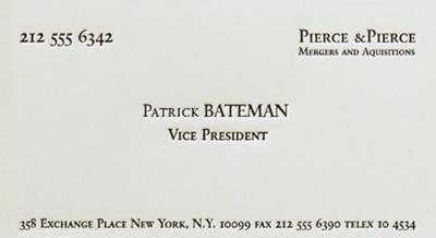 Zoekarssen zoes inspiration pinterest american psycho zoekarssen american psychobusiness cardshorror reheart Images