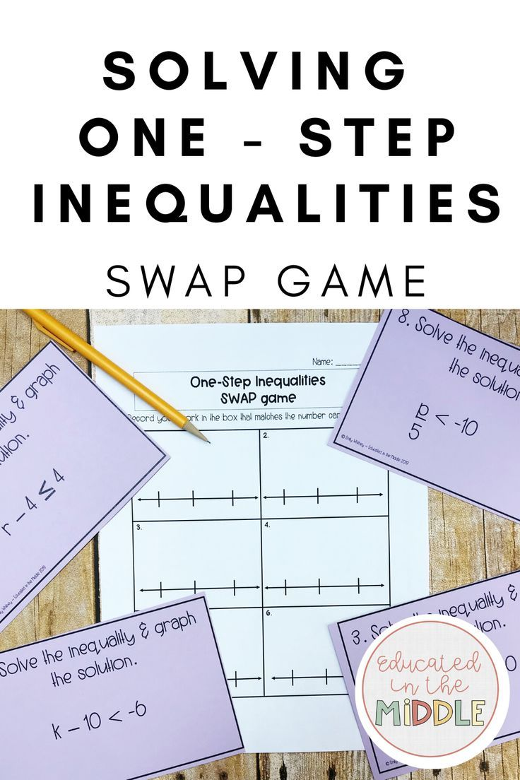 Solving One Step Inequalities Game Graphing Inequalities Word Problem Worksheets Graphing