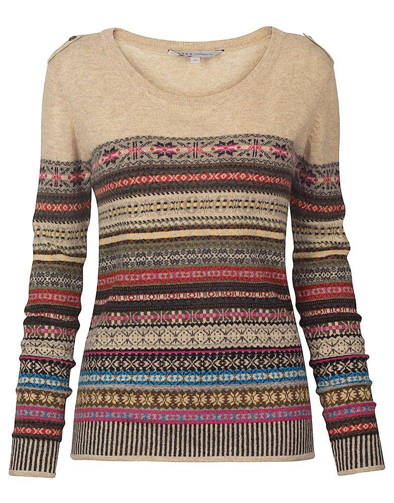 Womens Brighton Fairisle Jumper from Crew Clothing | Fashion ...