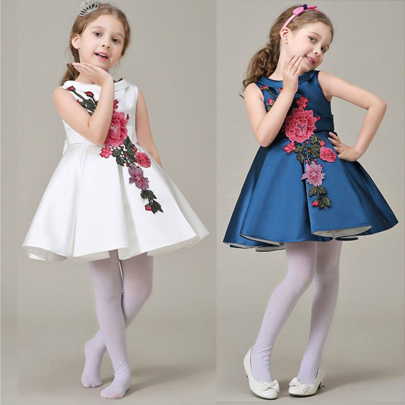 18ec4c7ce New Baby Girls Dress Sleeveless Floral Tutu Dress Princess Dresses ...
