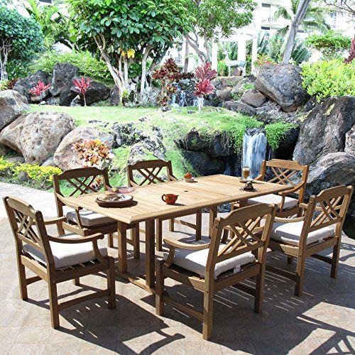 Roland Premium Grade Teak Dining Furniture 7PC Set Sunbrella Cushion    Be  Sure To Check